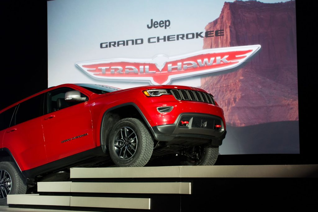 The Jeep Grand Cherokee Trailhawk premiere at the New York International Auto Show