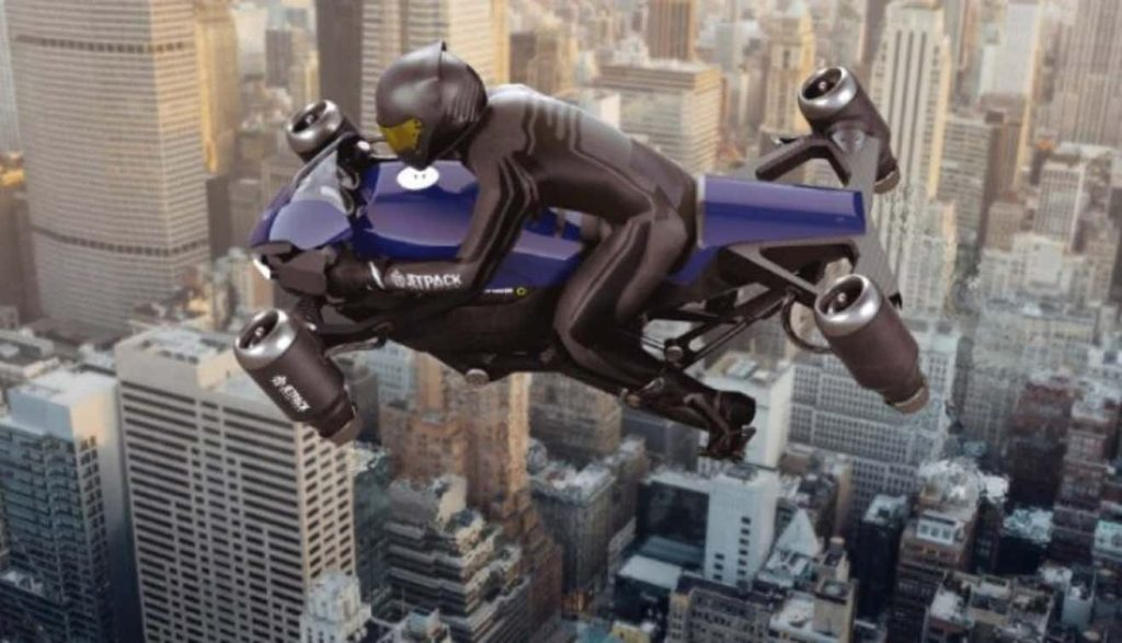 Jetpack Aviation flying motorcycle concept