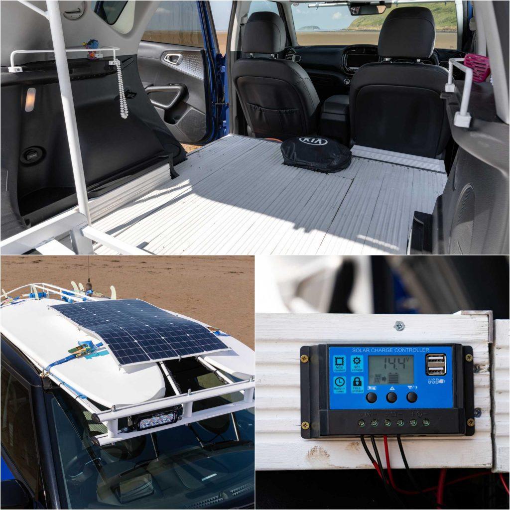 Kia Soul EV Boardmaster Interior, Solar Panel, And Power Display