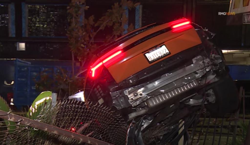 Lamborghini Urus crashes into tree in Hollywood