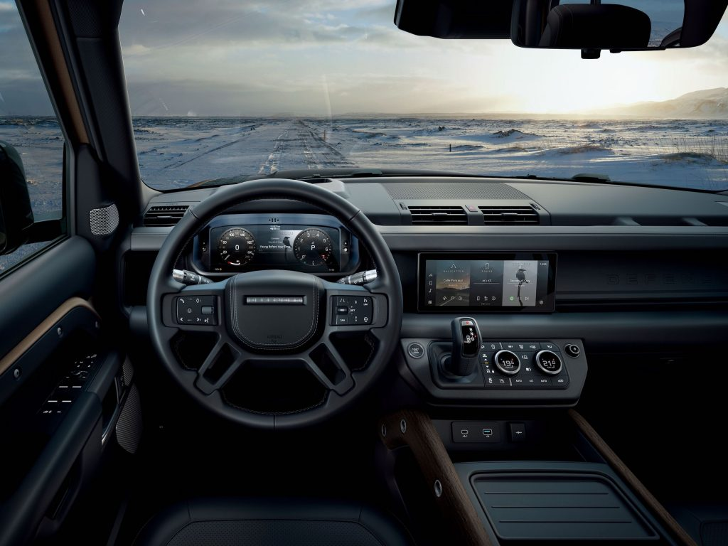 2021 Land Rover Defender review of the driver's view of the interior