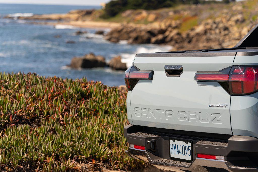 The Santa Cruz's tailgate photographed in, well, Santa Cruz