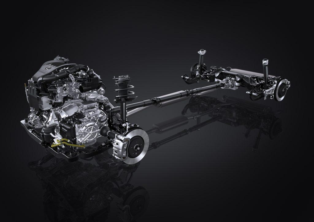 Lexus NX350 turbo all wheel drive system