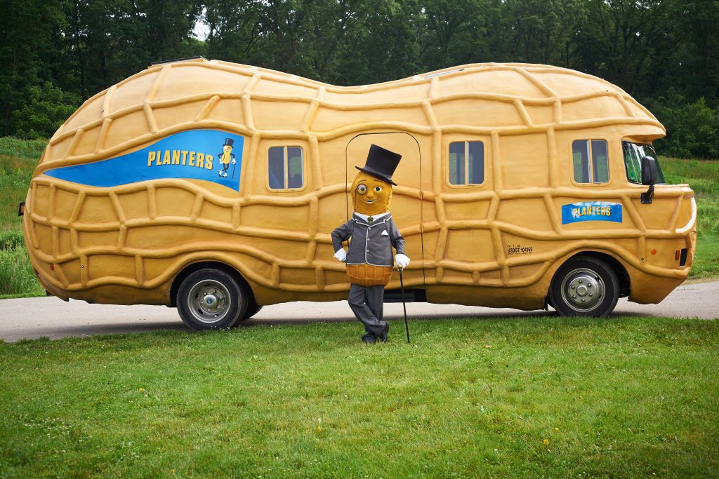 Mr. Peanut And The Nutmobile