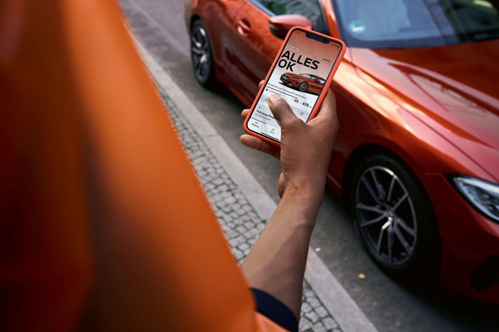 The My BMW App in use on a smartphone