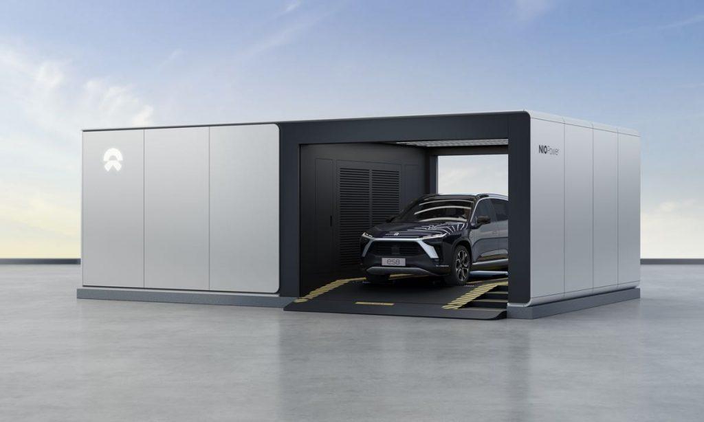 NIO Electric Car Battery Swap System
