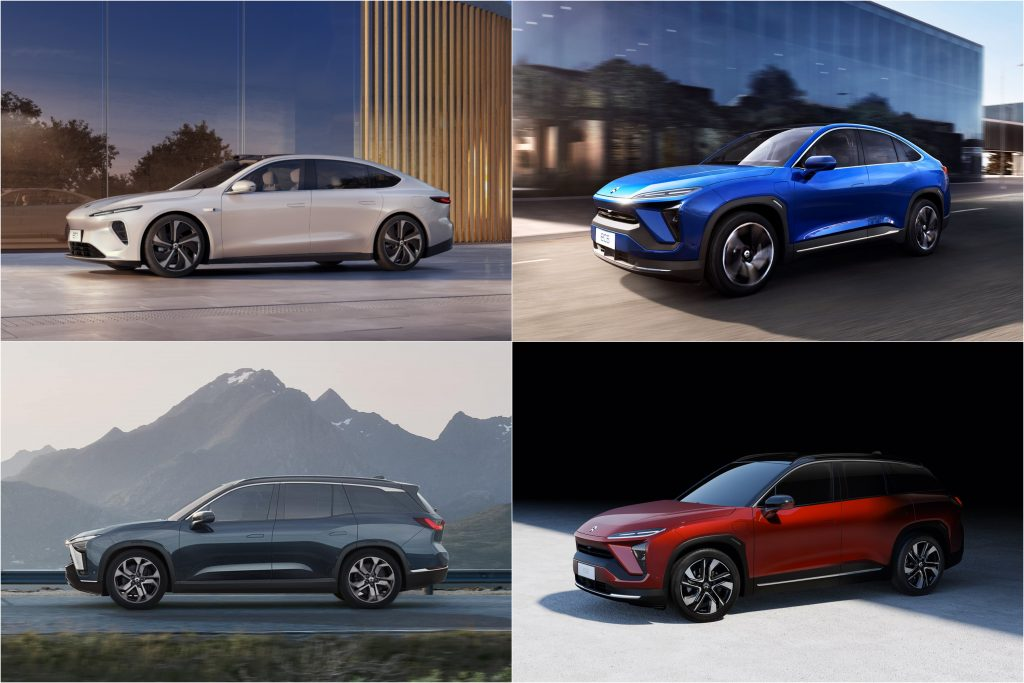 NIO ET7, EC6, ES6, and ES8 Chinese Electric Cars Which Use The Battery Swap System