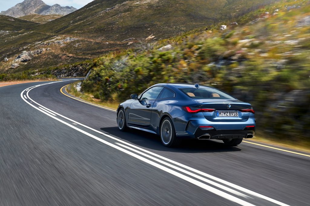The rear end of the 2021 BMW M440i xDrive