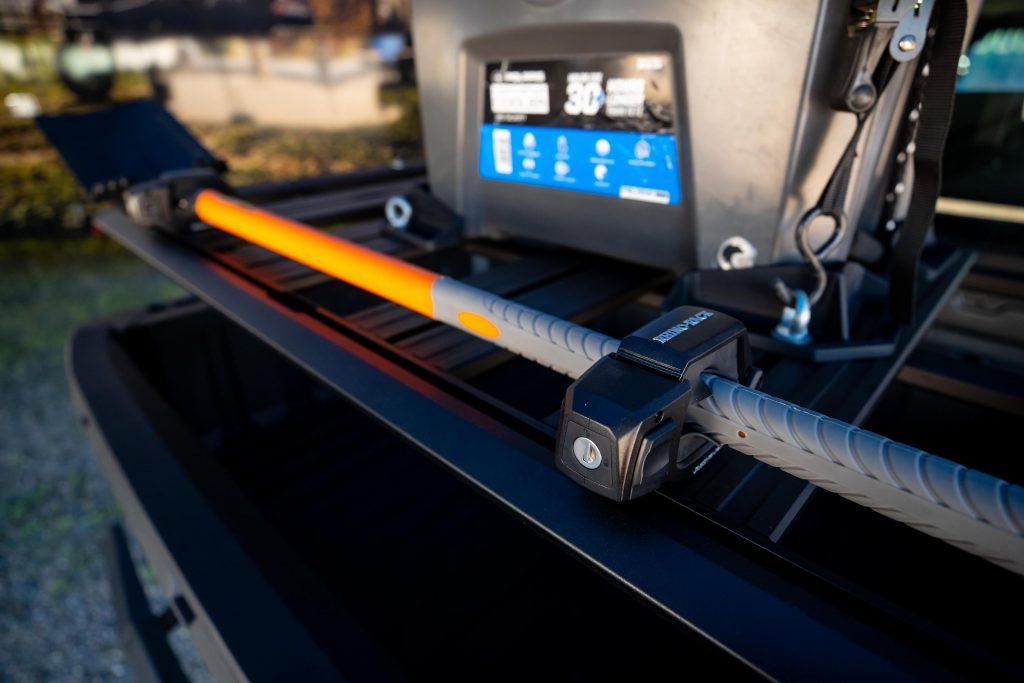Tool mount on the new polaris x Rhino-Rack partnership