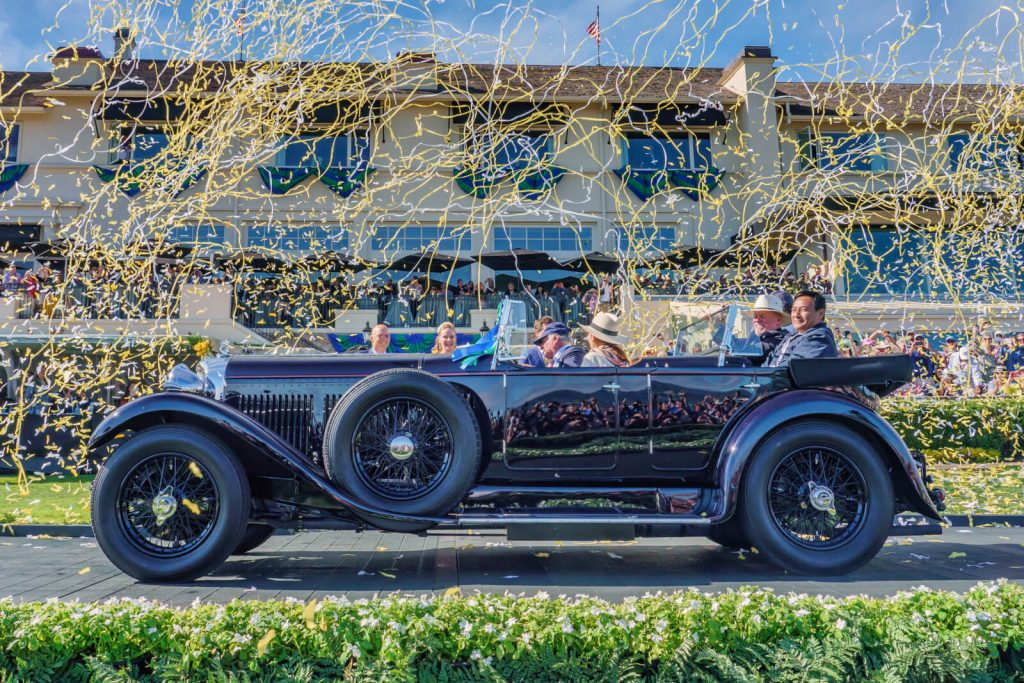 A classic car at the Pebble Beach Councours D'elegance