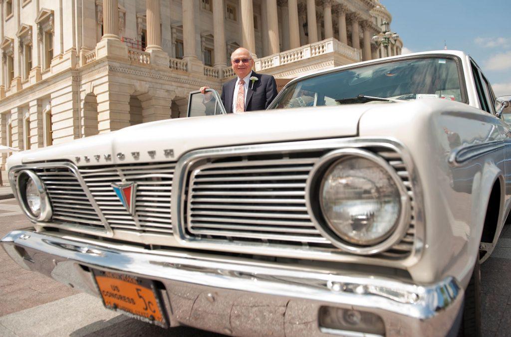 Gary Ackerman enters his 1966 Plymouth Valiant