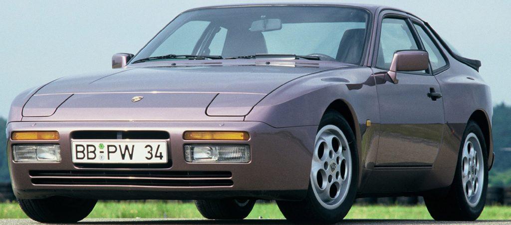 A lilac Porsche 944 Turbo