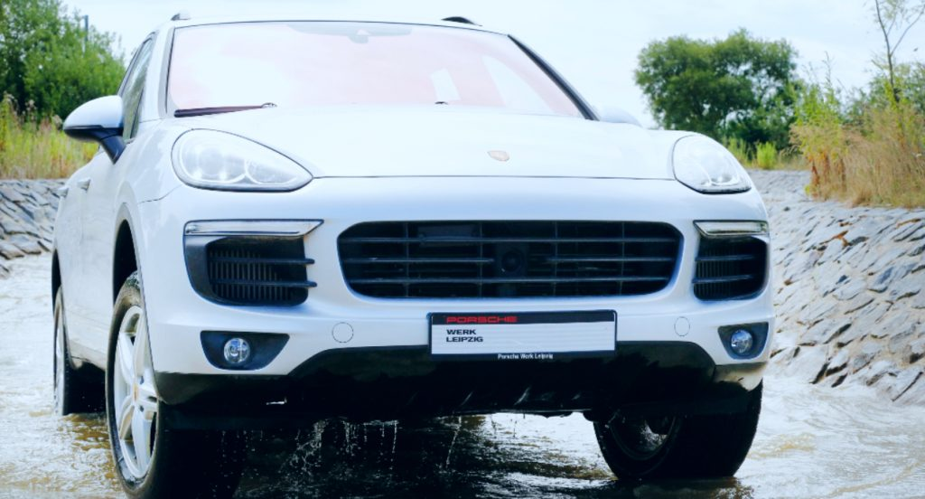 Offroad Tour with Porsche Cayenne S during the 'Porsche Experience For Women' Event on July 11, 2016 in Leipzig, Germany.
