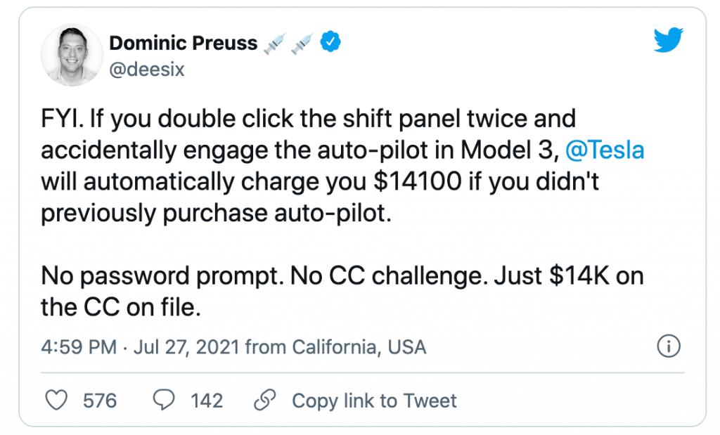 Preuss Tesla overcharge tweet   Twitter
