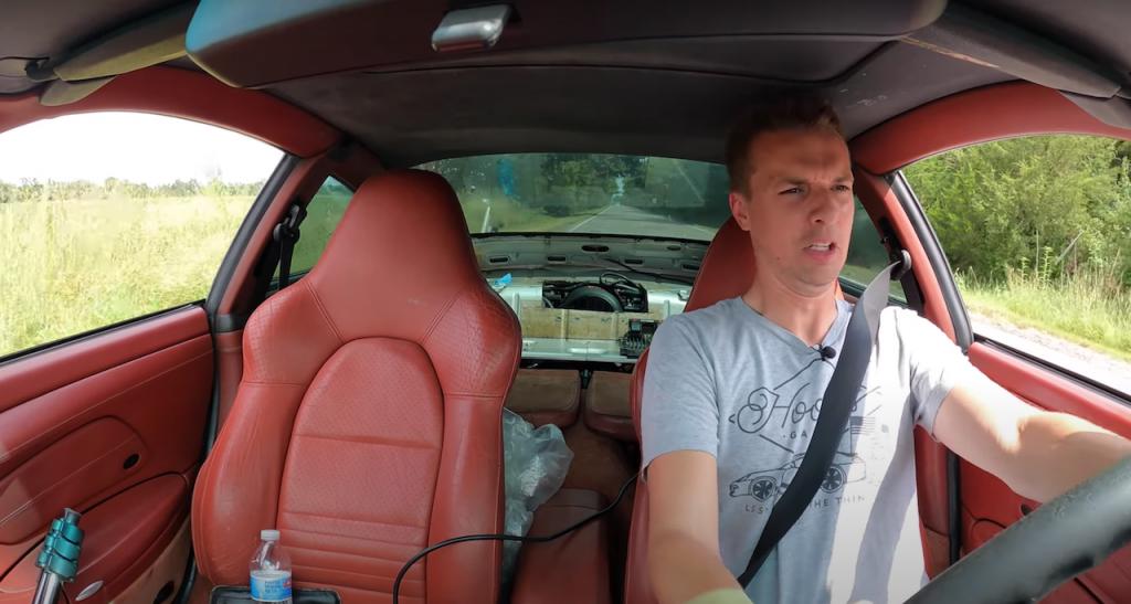 Tyler Hoover driving his LS-swap Porsche 911   Hoovies Garage