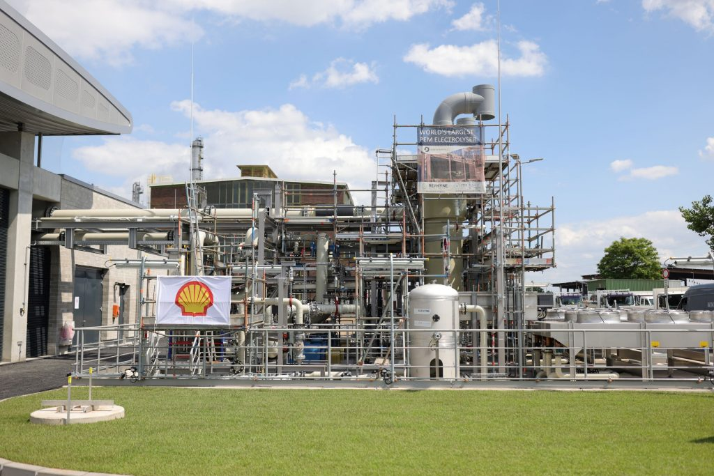 Shell Energy's REFHYNE green hydrogen production plant in Wesseling, Germany