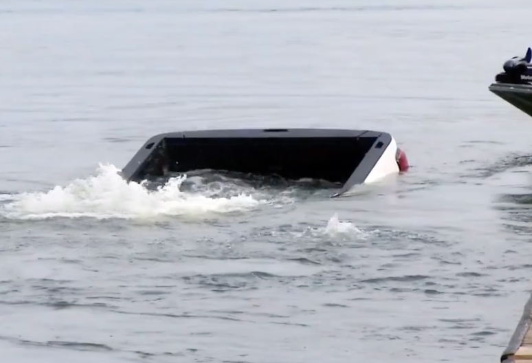 Sinking GMC Sierra