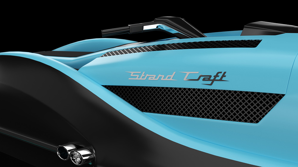 Strand Craft Daytona GT V8-powered jet ski close up shot