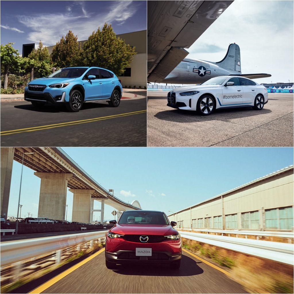 Subaru Crosstrek Hybrid, BMW i and Mazda CX-30