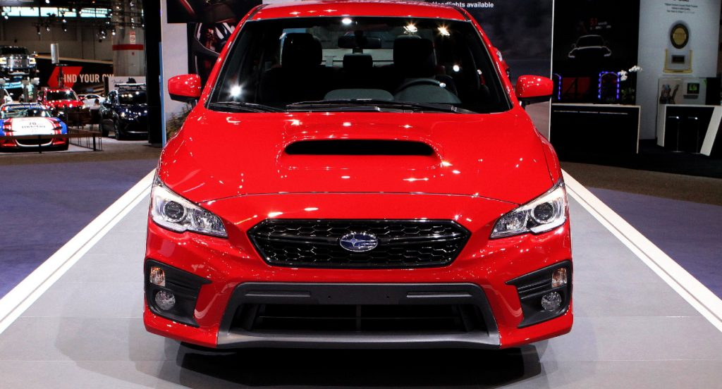 2018 Subaru WRX is on display at the 109th Annual Chicago Auto Show at McCormick Place in Chicago, Illinois on February 10, 2017.