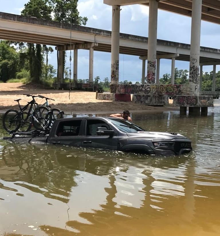 Sunk Ram TRX in San Jacinto River