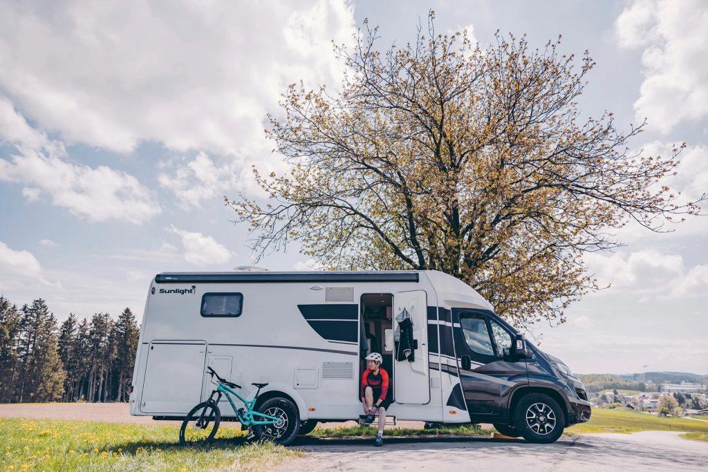 Sunlight camper from outside
