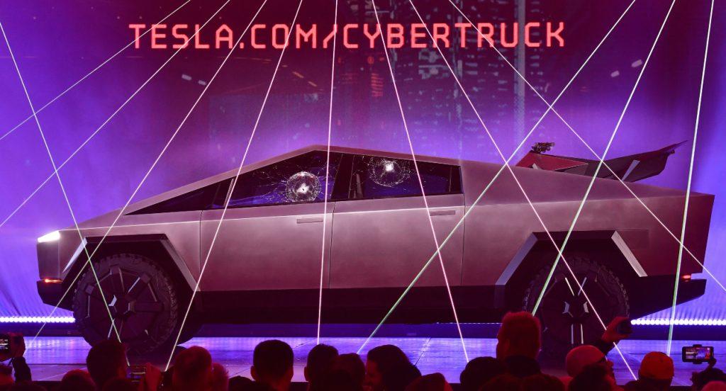 The Tesla Cybertruck.