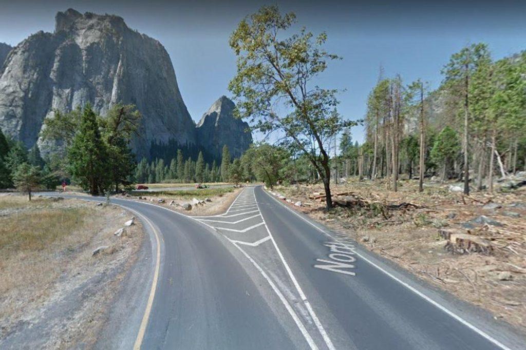 Tesla FSD crash site in Yosemite