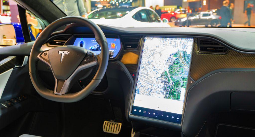 A Tesla interior.