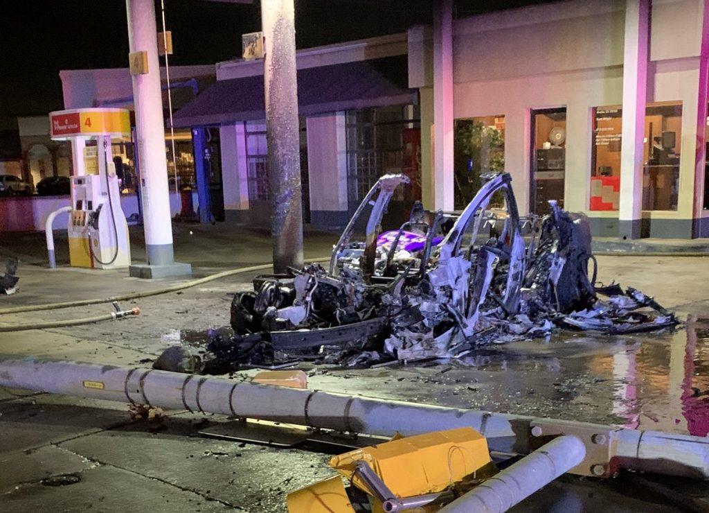 Tesla Model X after fire