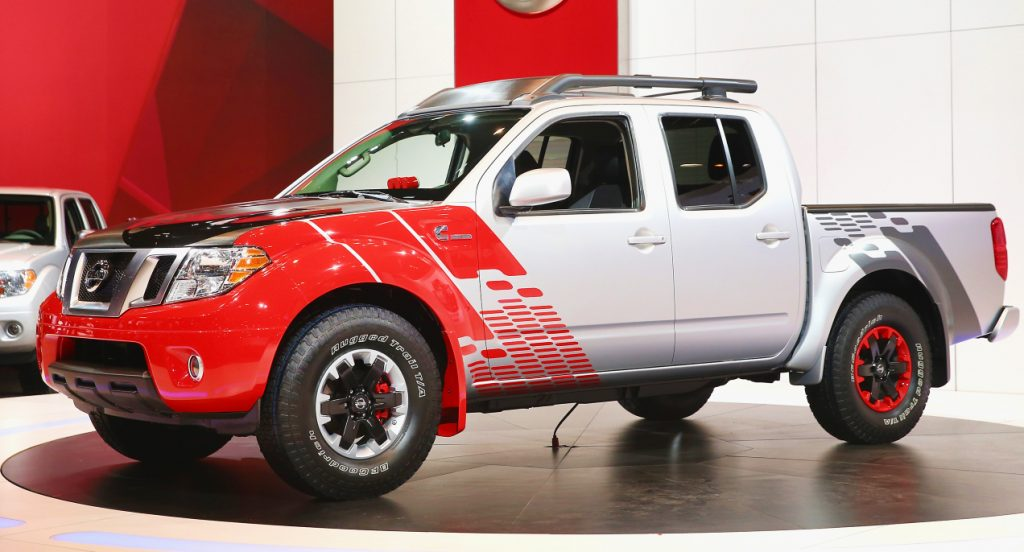 The Nissan Frontier.