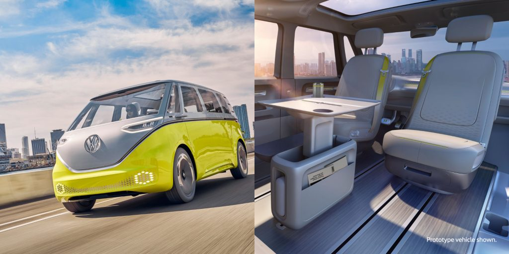 The Volkswagen ID Buzz electric car