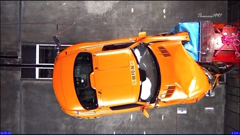 The Mercedes-Benz SLS AMG has one of the most expensive supercar crash tests