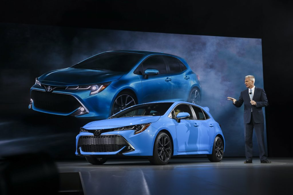 2019 Corolla hatchback at the New York Auto Show