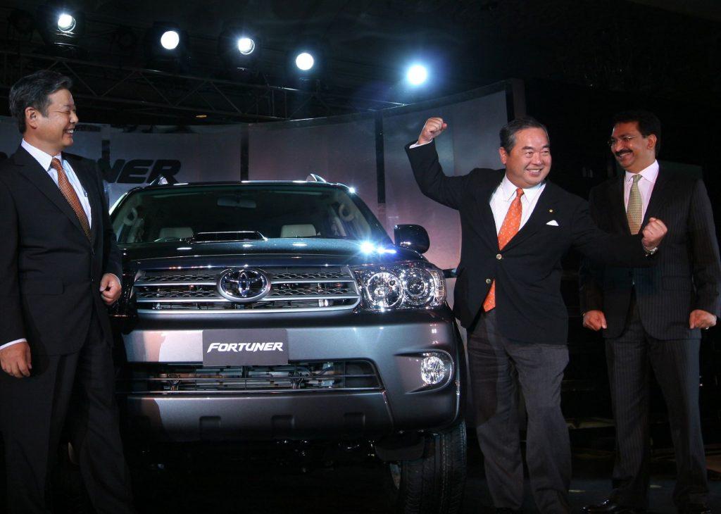 Toyota Motors debuting the new Toyota Fortuner model in New Delhi