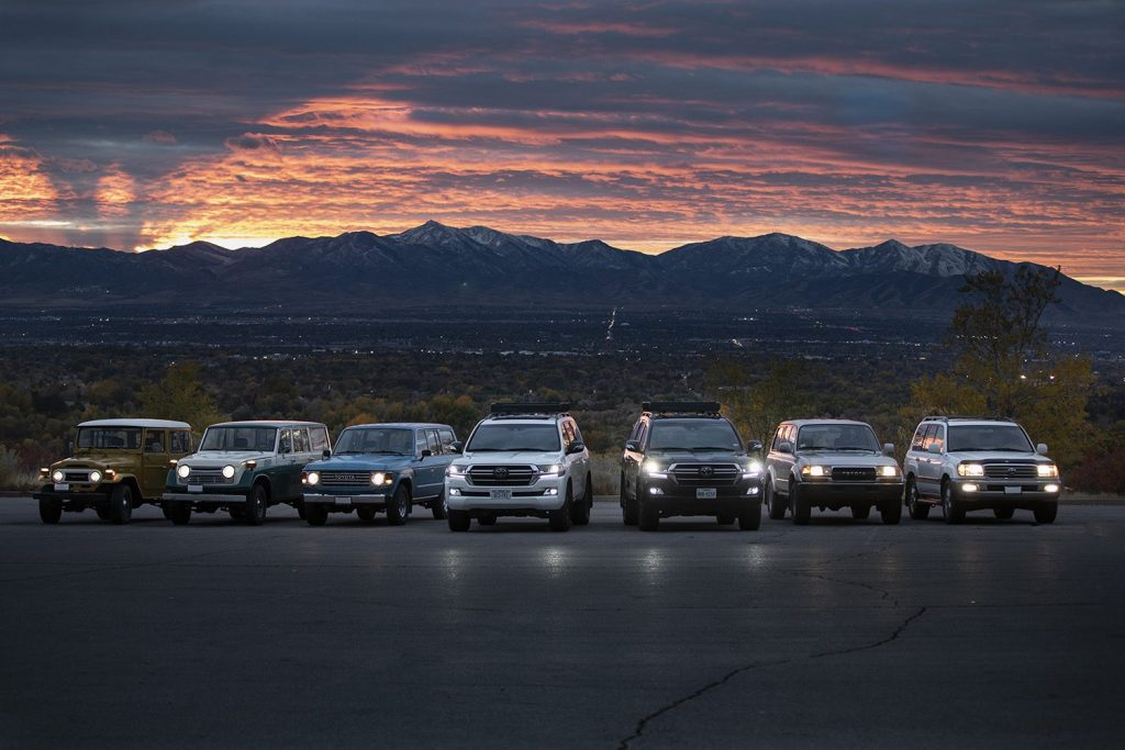 This publicity shot is a lineup of Toyota Land Cruisers from over the years. Ford F-150 VS Toyota Land Cruiser: Which Is More Iconic?