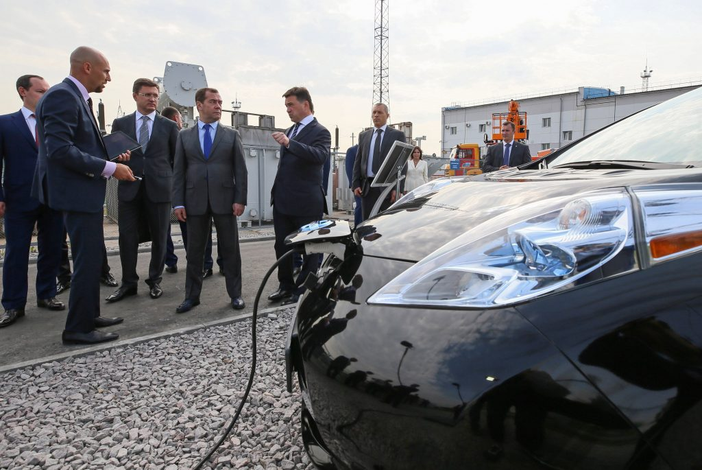 Used Nissan Leaf Electric Car In Russia