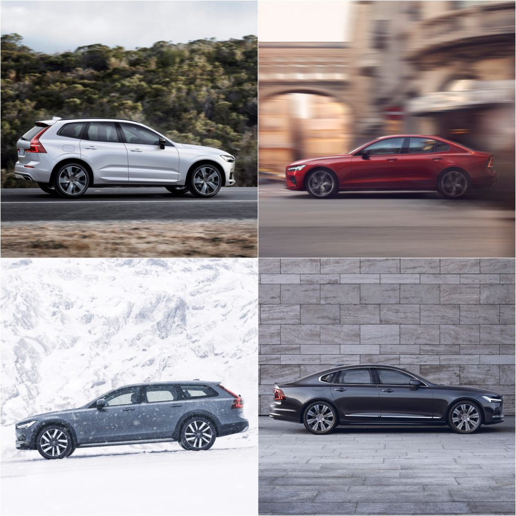 Volvo XC60, S60, V90 Cross Country, and S90