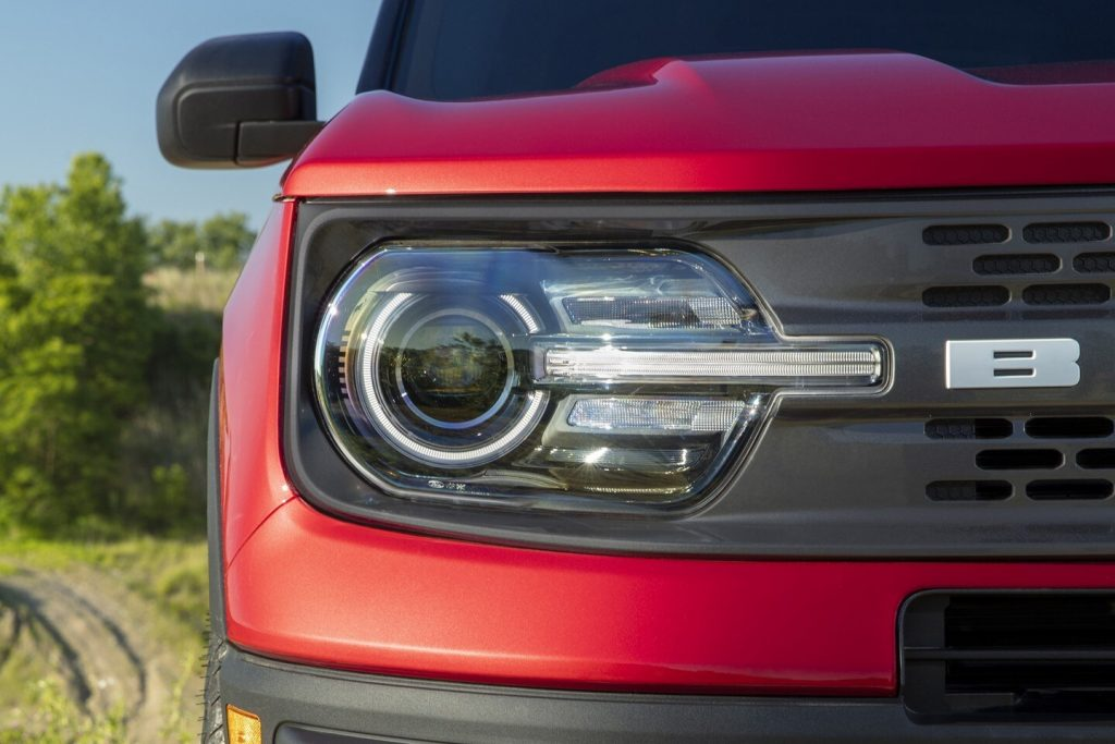 2021 Ford Bronco Sport Grille up close
