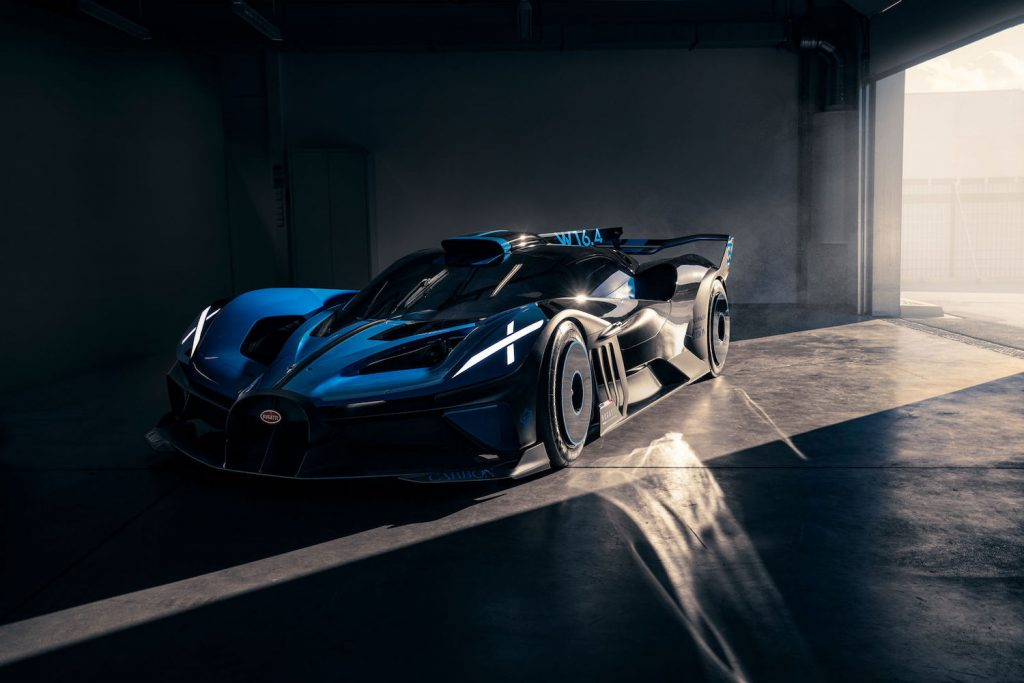 This is a press photo of the track-only Bolide. Will we ever see the Bugatti Bolide race at Le Mans?