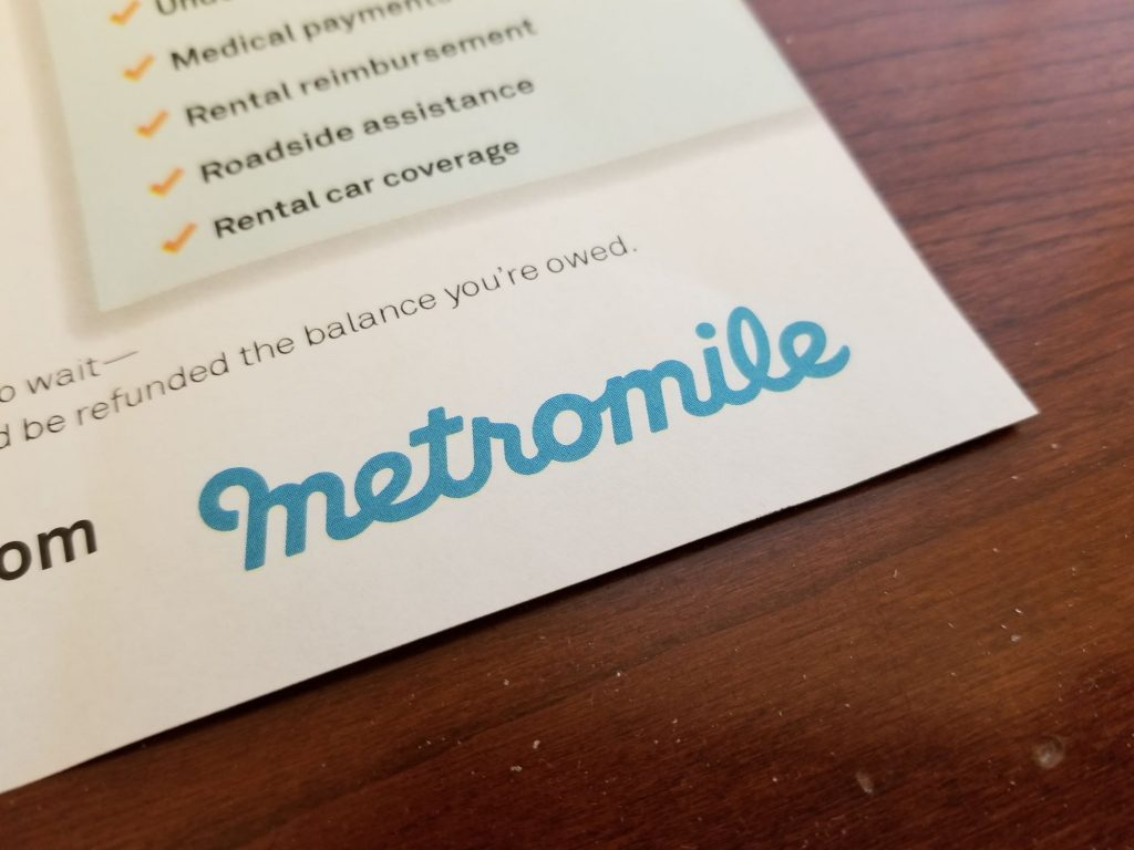 A Metromile car insurance form agreement