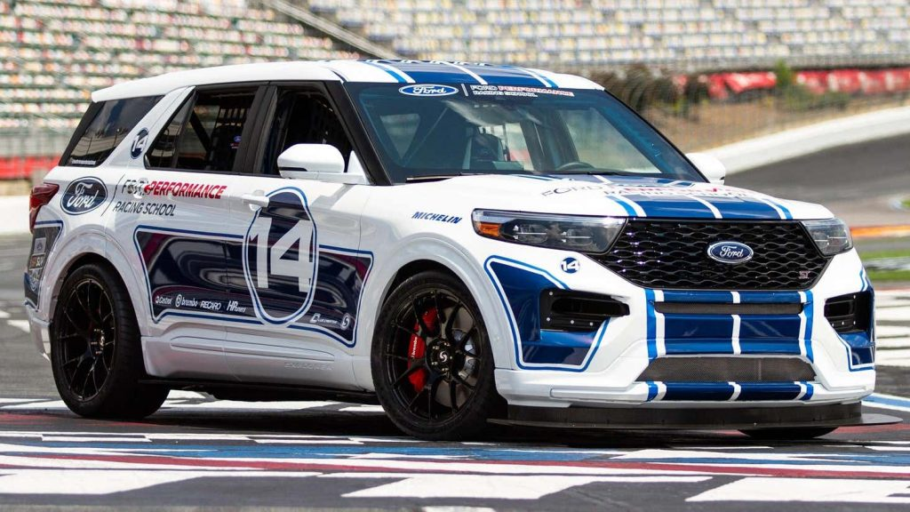 2021 Ford Explorer ST on the track