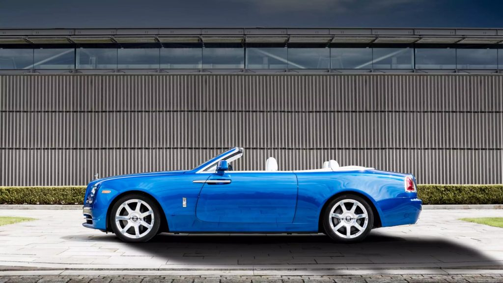 The Rolls-Royce Dawn Convertible is one of the Best Luxury Car Rentals