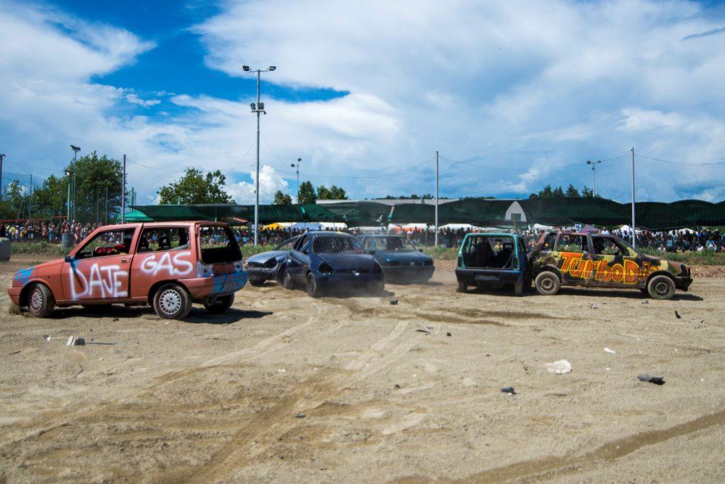 An outside Italian Demolition Derby festival