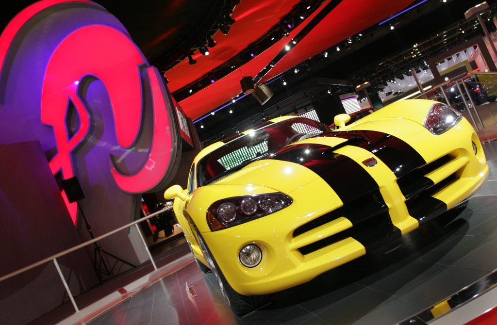 A Dodge Viper SRT 10 supercar