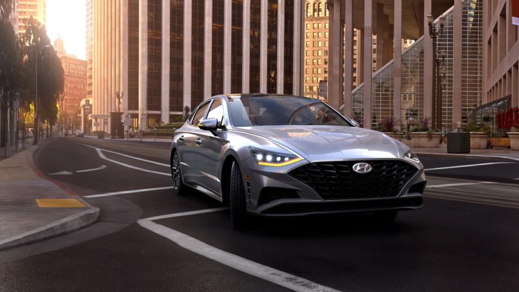 2021 Hyundai Sonata driving in the city