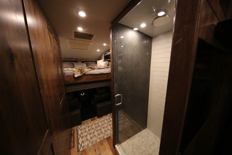 EarthRoamer HD camper truck shower