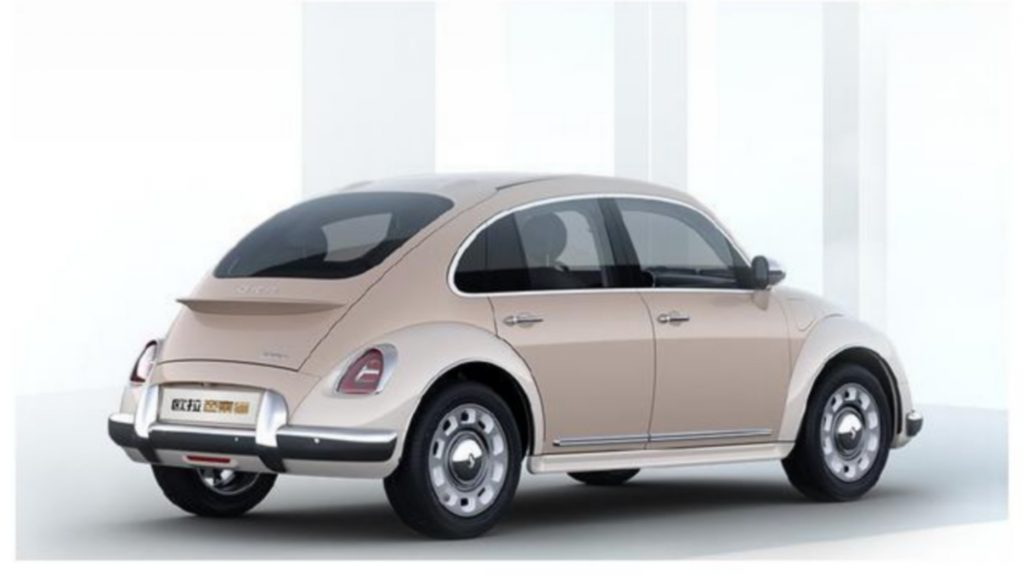 Chinese VW Beetle rip-off rear 3/4 view