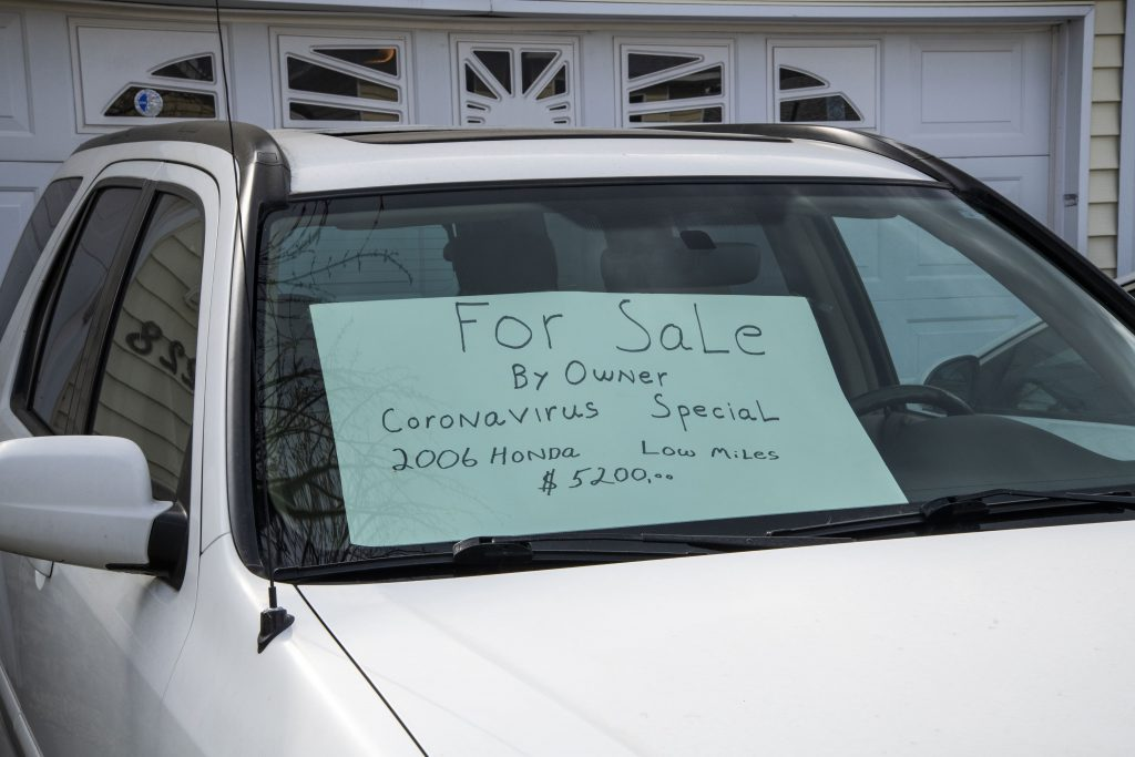 Used car being privately sold by owner