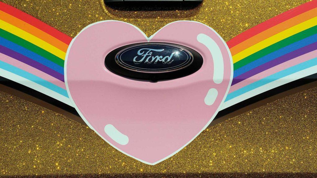 "Ford's ""Very Gay Ranger Raptor"" pickup detail"